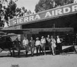 Main Photo Collection - This collection of loose photographs has tens of thousands of images, with many early views of Pasadena places and people. It is organized by subject, not by date. (Pasadena's First Airport, 1921-1924, Corner of Sierra Madre Villa and Foothill Boulevard, A9-4b)