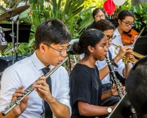 Blair High School Jazz Band at HBP 2015. Photo credit: Marlyn Woo/Joanne Wilborn