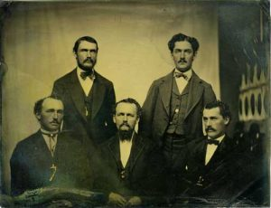 Tintype of the Parker Brothers; Charles and Millard Parker Collection (CMP.1.21)