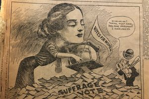 Political cartoon (Scrapbook Collection, 112)