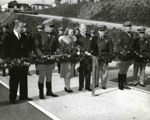 1941 Queen Sally Stanton at Arroyo Seco Parkway dedication