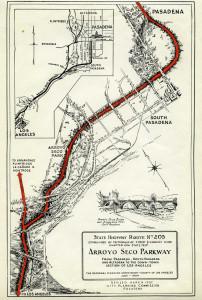 Eph-Pasadena 41-8-2 Arroyo Seco Parkway Map July 1934