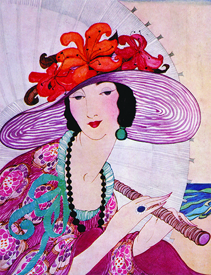 Detail of Vogue magazine cover, 1919