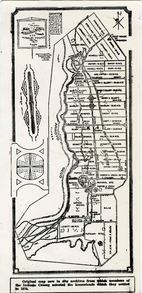 Map of the San Gabriel Orange Grove Association, 1874