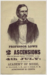 Thaddeus Lowe Balloon Ascension Handbill