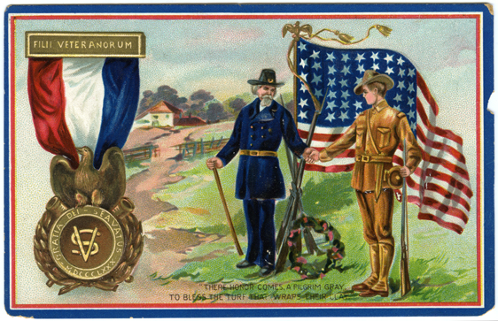 Memorial Day postcard come from the Sons of Veterans