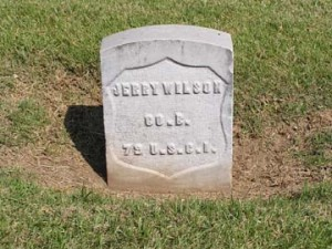 Tombstone of Jerry Wilson
