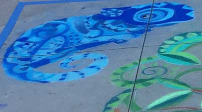 Chalk lizard by Jessica Edelstein