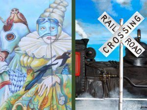 Chalk art and Railroad art