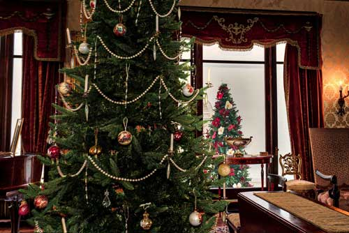 Christmas Trees in the Fenyes Mansion