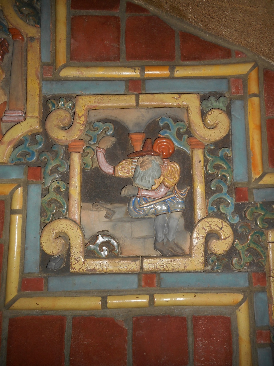 Mercer Tile Yellow Bedroom Bluebeard Fireplace Fonthill