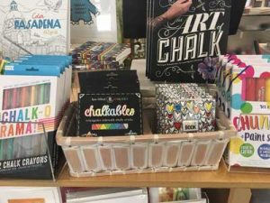 Chalk items for sale in Museum Store