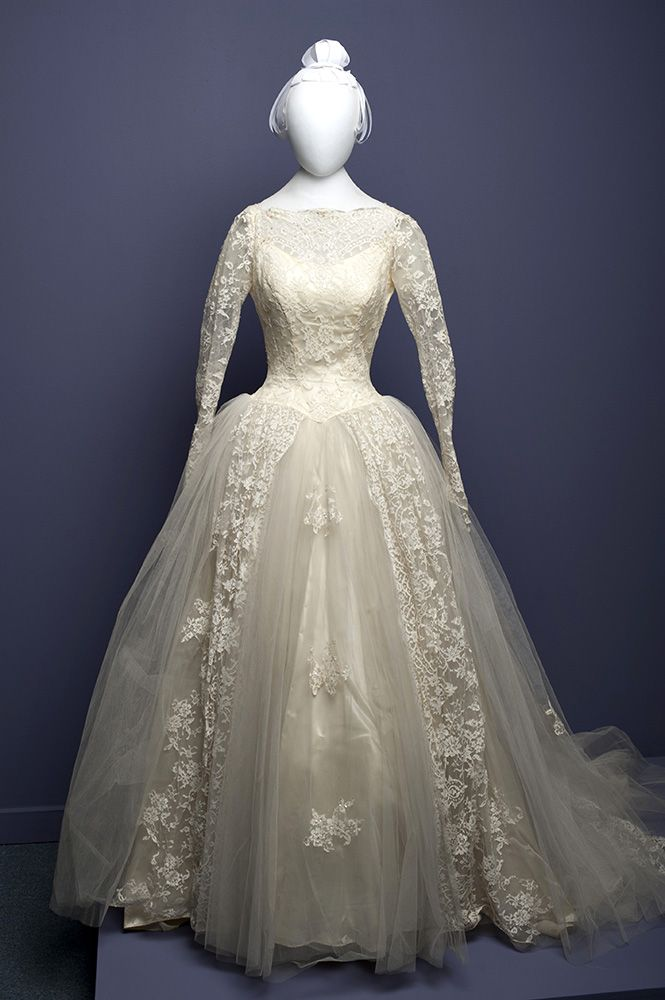 Wedding dress, circa 1957