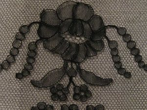 Chantilly lace detail