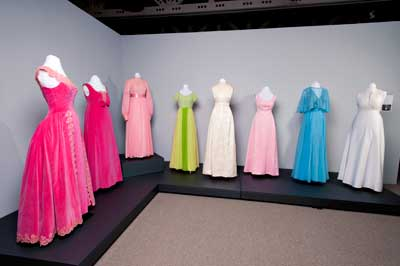 1960s and 70s Rose Court gowns
