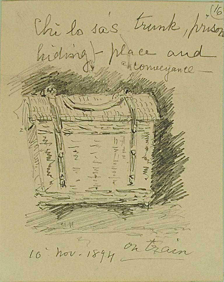 Sketch of Chi lo sa's trunk