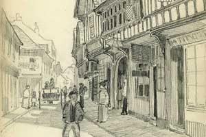 Sketch by tilemaker Ernest Batchelder