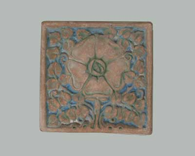 rose tile by Ernest Batchelder