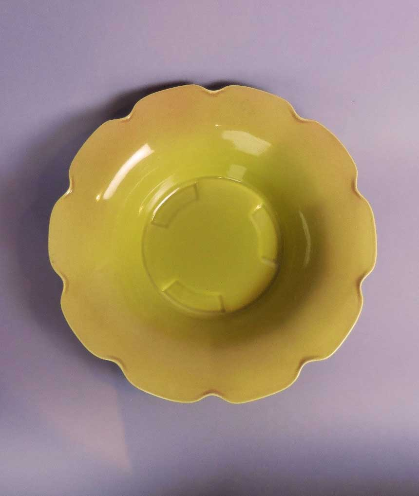 Bowl with scalloped edge