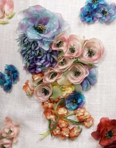 Christian Dior printed silk/linen with florals