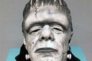 Bust of actor Glenn Strange as Frankenstein