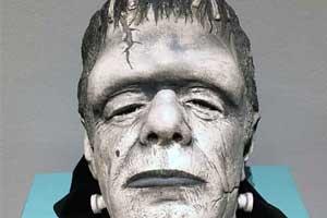 Bust of actor Glenn Strange as Frankenstein