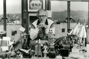 Ray Bradbury in office. Courtesy of the Center for Ray Bradbury Studies, Indiana University, Indianapolis of