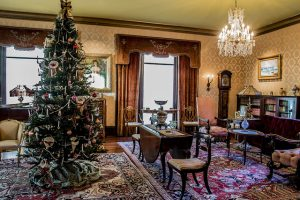 Fenyes Mansion Drawing Room at Christmas