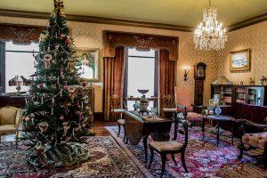 Fenyes Mansion Drawing Room at Christmas