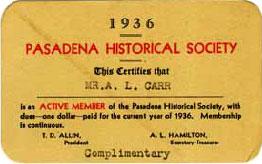 1936 membership card