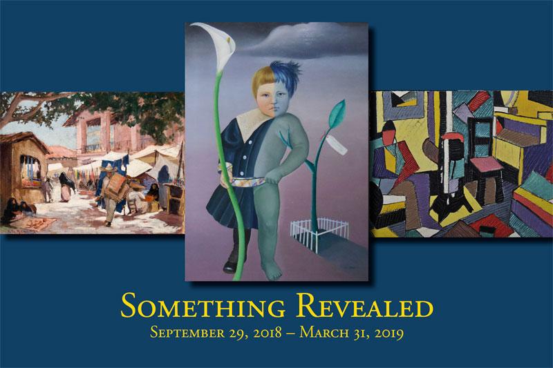 Something Revealed exhibit postcard