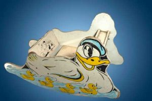 American, Donald Duck shoo fly rocker, circa 1940