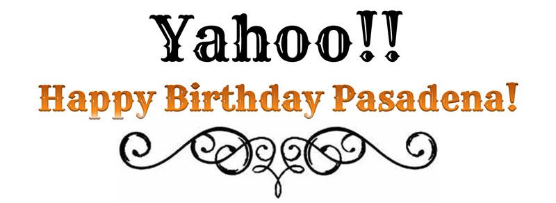 Happy Birthday Pasadena logo