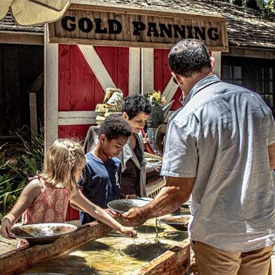 Gold panning at Happy Birthday Pasadena