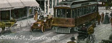 early 1900s Pasadena postcard