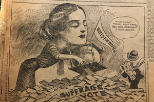Political cartoon (Scrapbook Collection, 112)