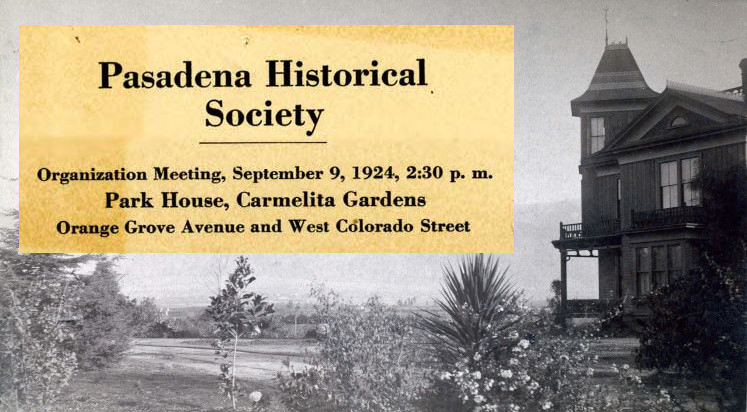 Camelita and first Historical Society meeting