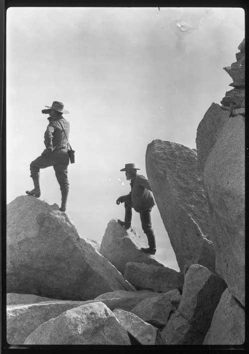 Theodore Lukens on San Jacinto Peak, 1905 (HLG-123)