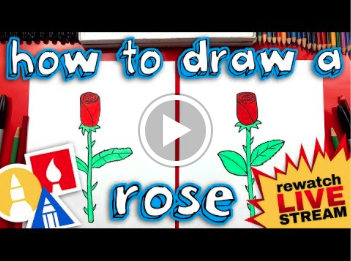 How to Draw a Rose with Art For Kids Hub