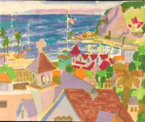 Watercolor of Catalina by Jae Giddings Carmichael