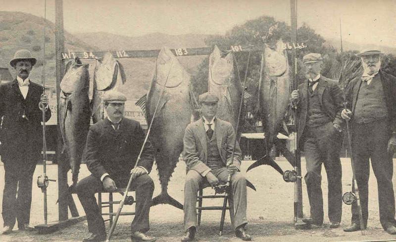 Original Members of the Tuna Club, 1898. Courtesy of Freshwater and Marine Image Bank, University of Washington Libraries.