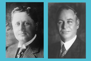 Portraits of Wrigley and Renton