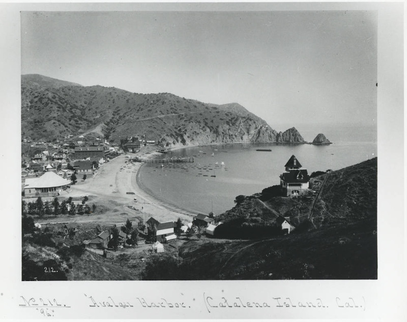 Avalon Harbor on Catalina Island, 1895. (Courtesy of Pasadena Public Library. Adam Clark Vroman Collection, v2#212)
