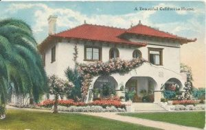 An early postcard view of the Emery home at 707 South Orange Grove Avenue.