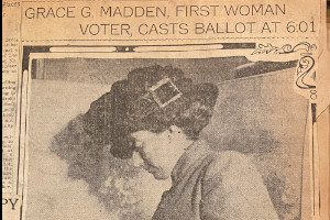 Grace Madden Votes article (Scrapbook 112, p 60)