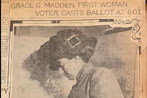 Grace Madden Votes article (Scrapbook 112, p 60)