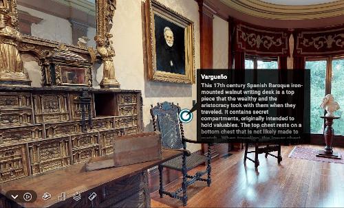 Vargueno on the virtual tour