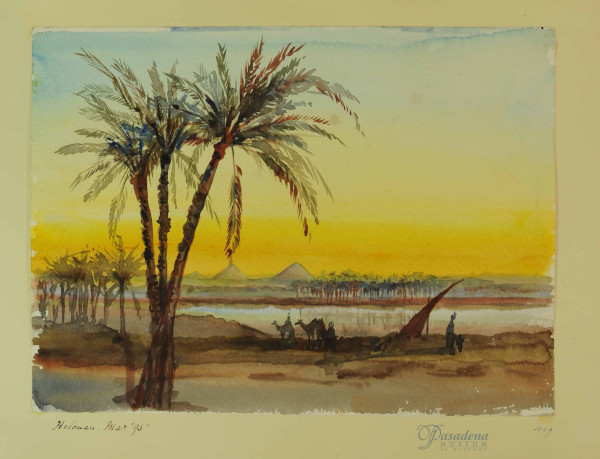 Eva Scott Fenyes (1849-1930). Helouan, March1895. Watercolor on paper, 9.68 x 13.07 in. (Fenyes Collection, ESF.007.1839)