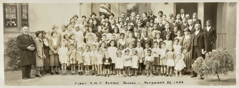 First African Methodist Episcopal Church Sunday school, November 26, 1933 (Black History Collection, BH-D-1-12).