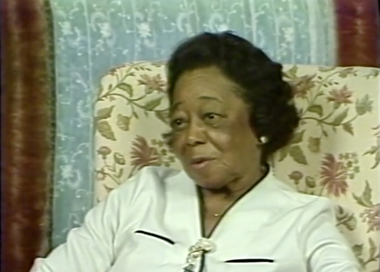 Still from the interview Robin Kelley did with Mrs. Ruth Wright, September 5, 1984 (Black History Collection).